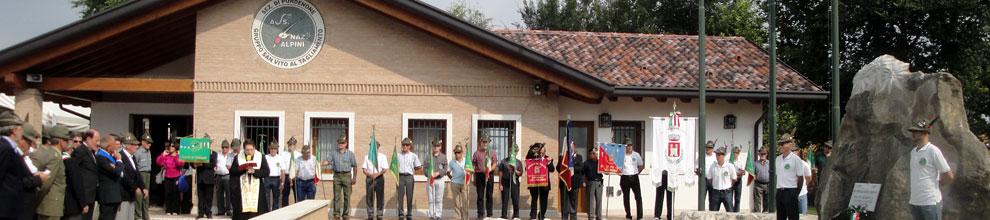 Cerimonia di inaugurazione della sede alpini