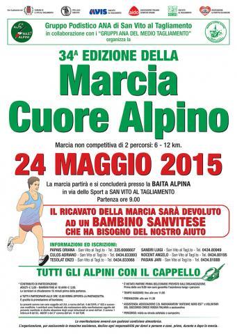 Locandina Marcia Cuore Alpino 2015